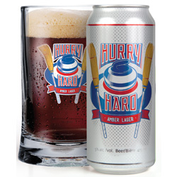 Hurry Hard Amber Lager Rolls into Manitoba